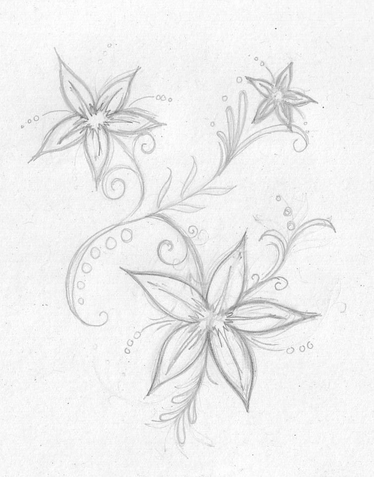 Flower1 Art Drawings Sketches Simple Flower Sketches Cute