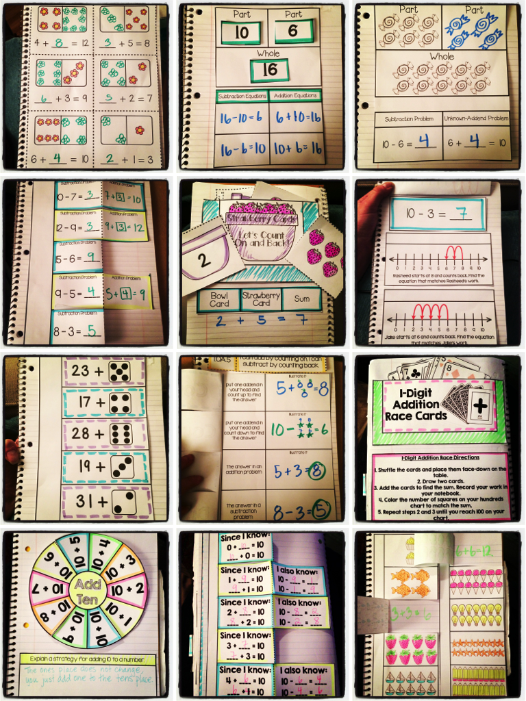 Kinder Garden: Interactive Notebook: 1st Grade CCSS Operations And
