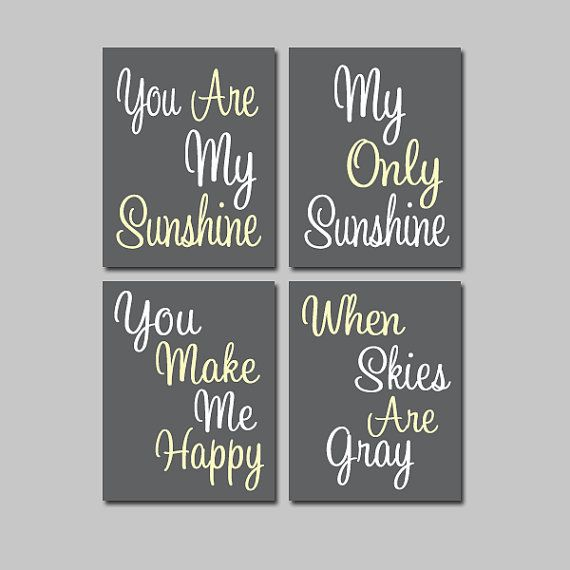 Bedroom Interior Designs Green Blue And Orange Bedroom Boys Bedroom Colors For Boy Bedroom Art Reddit: You Are My Sunshine Set Of 4