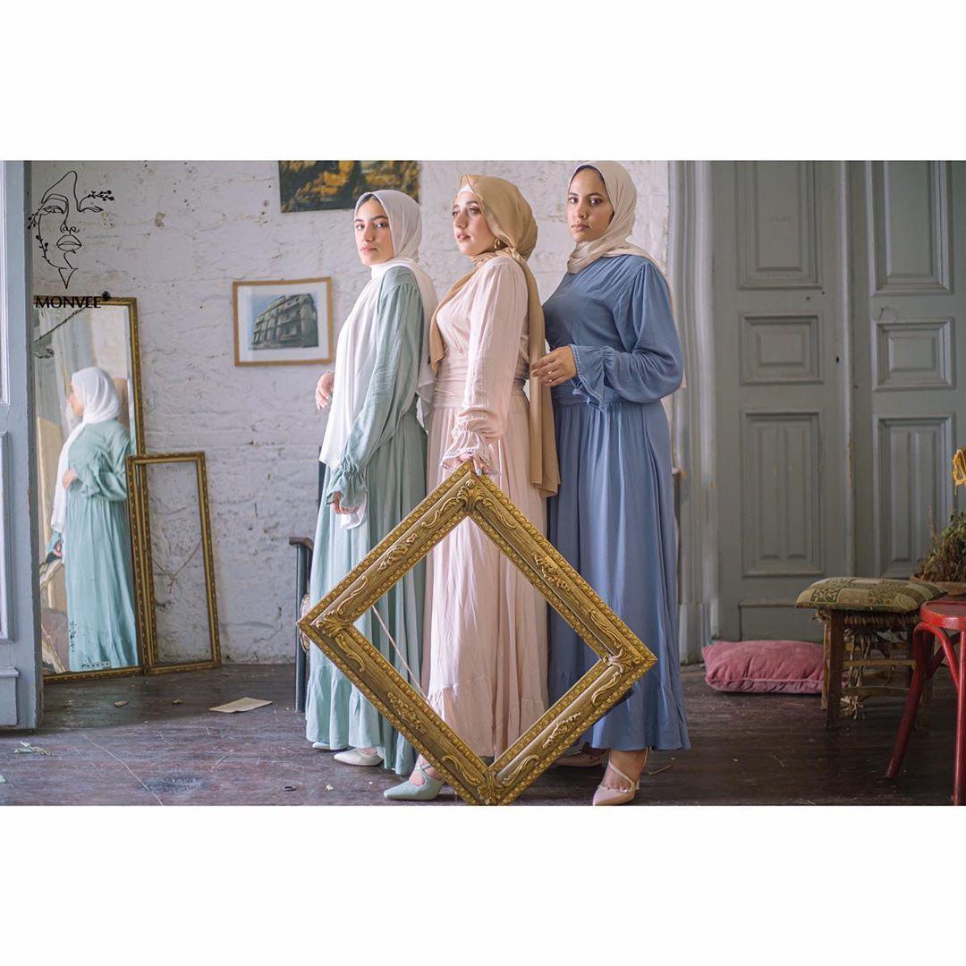 Monvee On Instagram فستان صيفى بتفصيلة مميزة متوفر بـ ٤ ألوان صيفية أبيض بيج مينت جرين أزرق Price 550 Ma Instagram Hijab