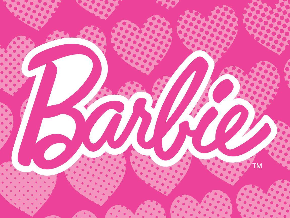 Barbie logo wallpaper バービー、ピンク、デザイン