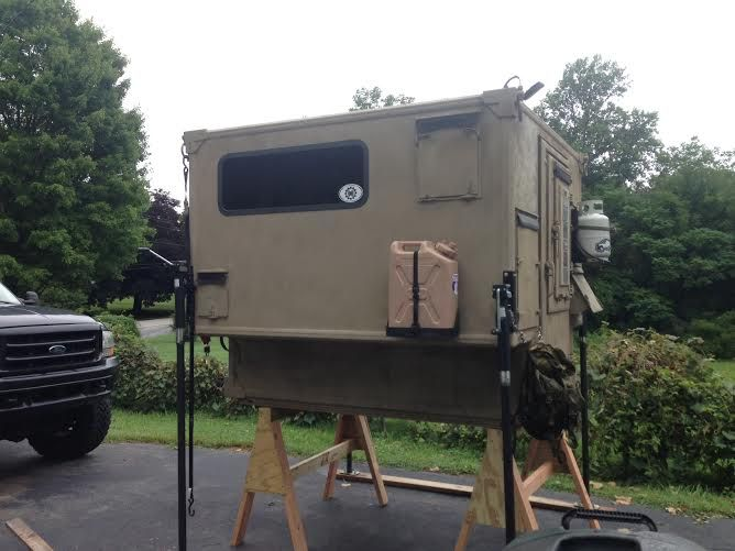 Custom Made Truck Camper Fits In An F350 Short Bed Sleeps 2 With