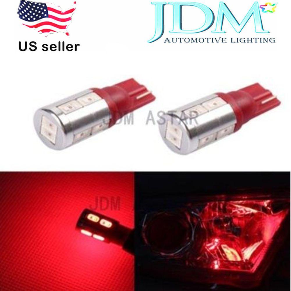 Jdm Astar Super Bright Red T10 Wedge 5730 10 Smd 194 168 2825 W5w Car Led Bulbs Jdmastar Automotive Led Lights Led Bulb Car Led