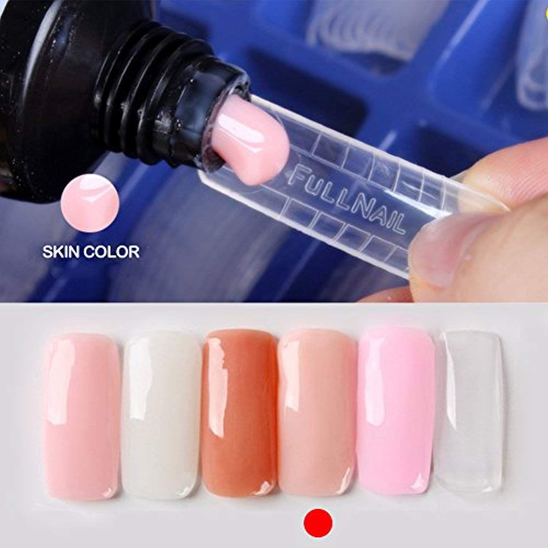 Cutelove Nail Builder Gel Poly Glue Gel Nail Extension Gel Uv Led Builder Gel Quick Building Nail Tips 120pc Nail Mold Nail Brush Pusher Nail Art Kit Click