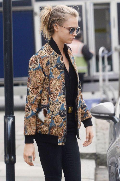Choose a bomber jacket with a fierce print #winter #fashion #bomberjacket #smithandcaugheys