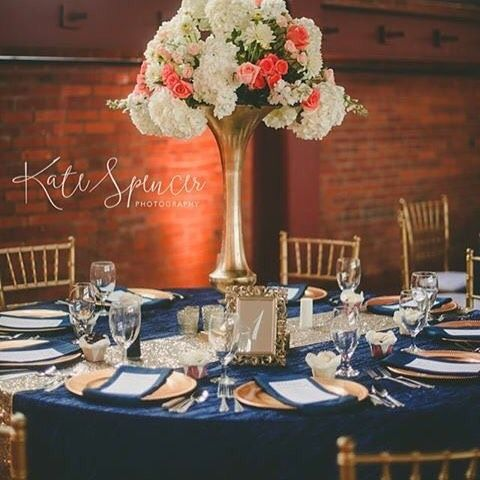 Blue gold tablesape weddings by color i do events pinterest blue gold tablesape weddings by color i do events pinterest quad cities chiavari chairs and chair covers junglespirit Gallery