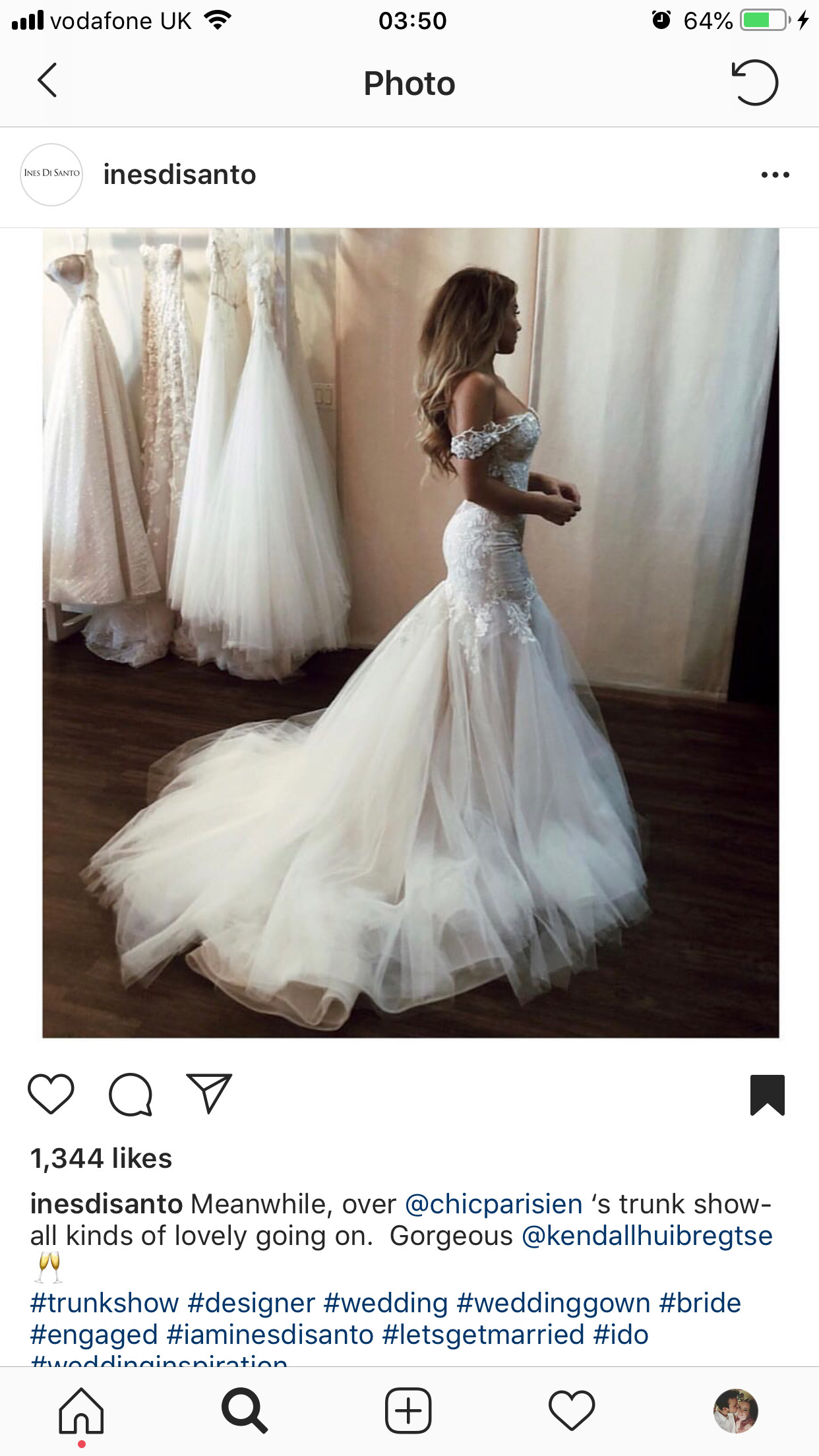 Ines Di Santo Lyra Off Shoulder Style Dress Beautiful Wedding