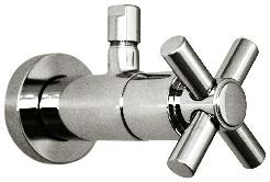 Harrington Brass Works Metro Cross Lavatory Toilet Supply Valve