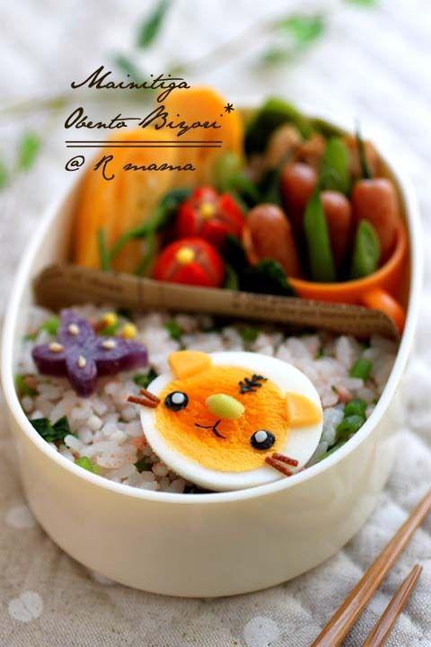 boiled egg tiger bento