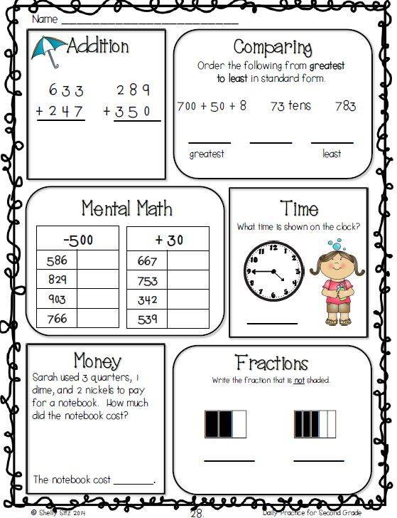 Common Core Math And Language Arts Daily Practice For Second Grade April 2nd Grade Math Common Core Math Second Grade Math