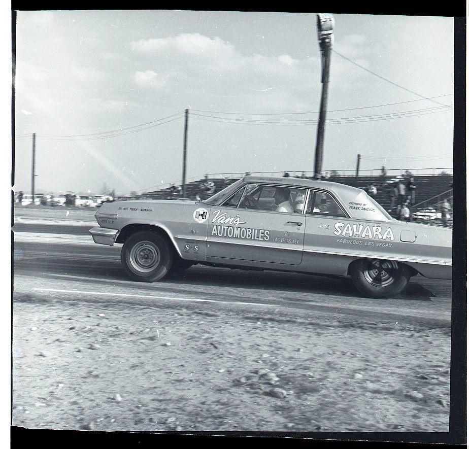 1960 S Frank Sanders Van S Auto Hotel Sahara Car Vtg B W Drag