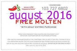 image regarding Torrid Printable Coupons named Absolutely free Printable Coupon codes: Chilis Coupon codes sizzling discount codes august
