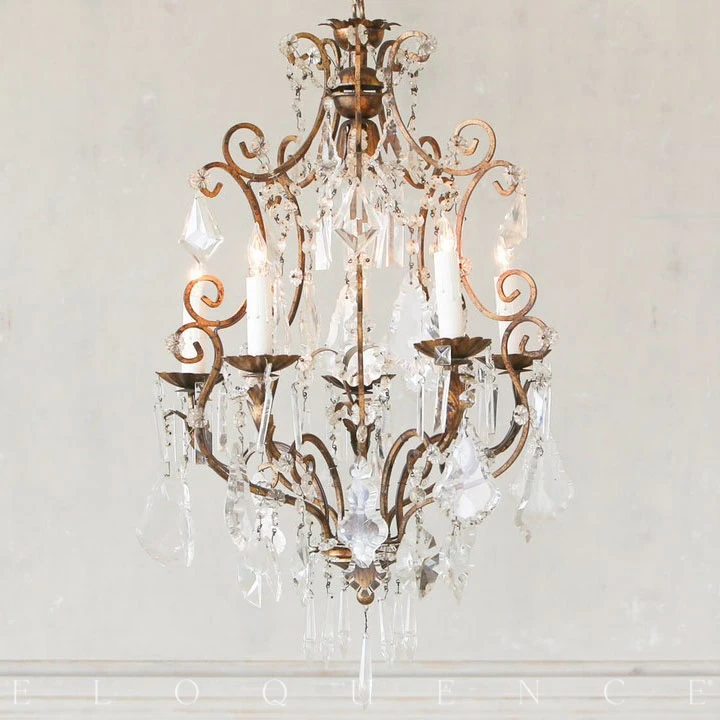 Eloquence Antique Brass Chandelier With Five Arms In 2020