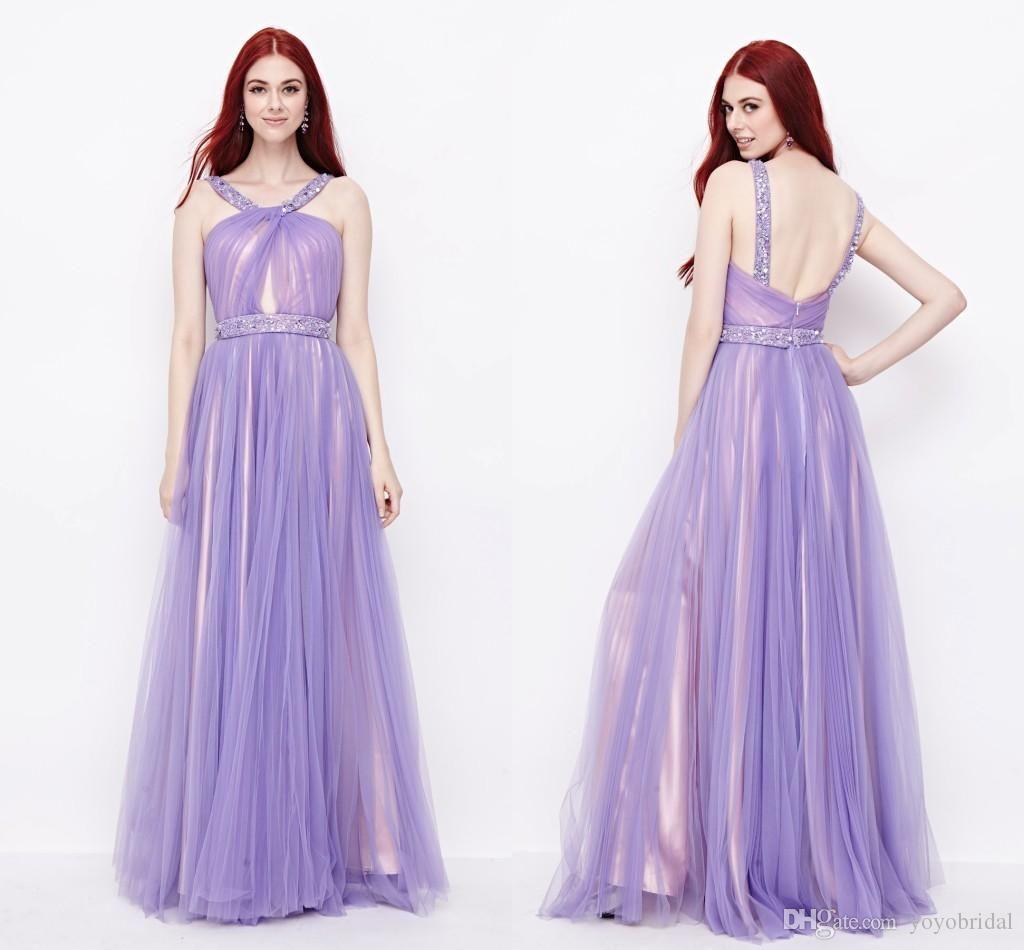 Light Purple Bridesmaid Dress Cheap Long Bridesmaid Dress Backless ...