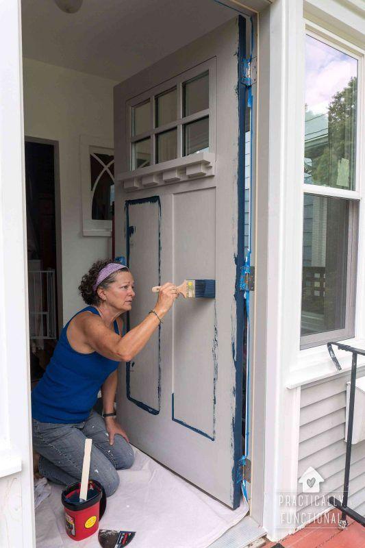 How To Paint A Door The Easy Way!