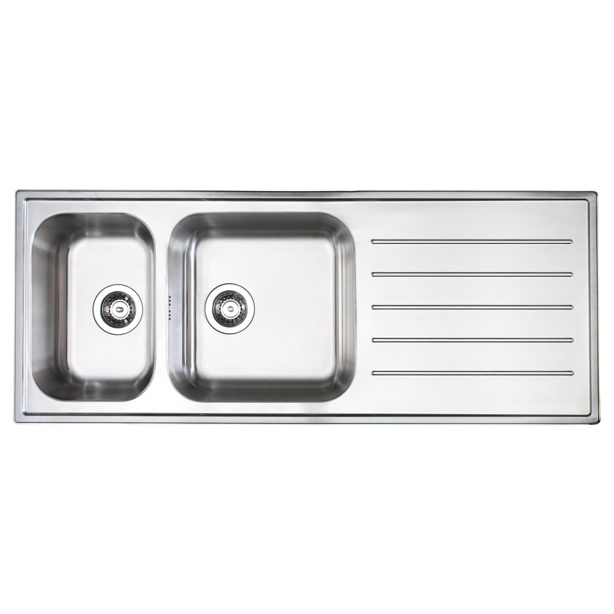 BOHOLMEN 2 Bowl Inset Sink With Drainer   IKEA Bowls The Right Way Round:  Rinse, Wash, Drain