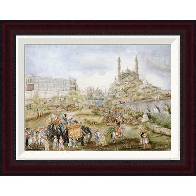 Global Gallery A Hunting Procession by Lucknow School Framed ...