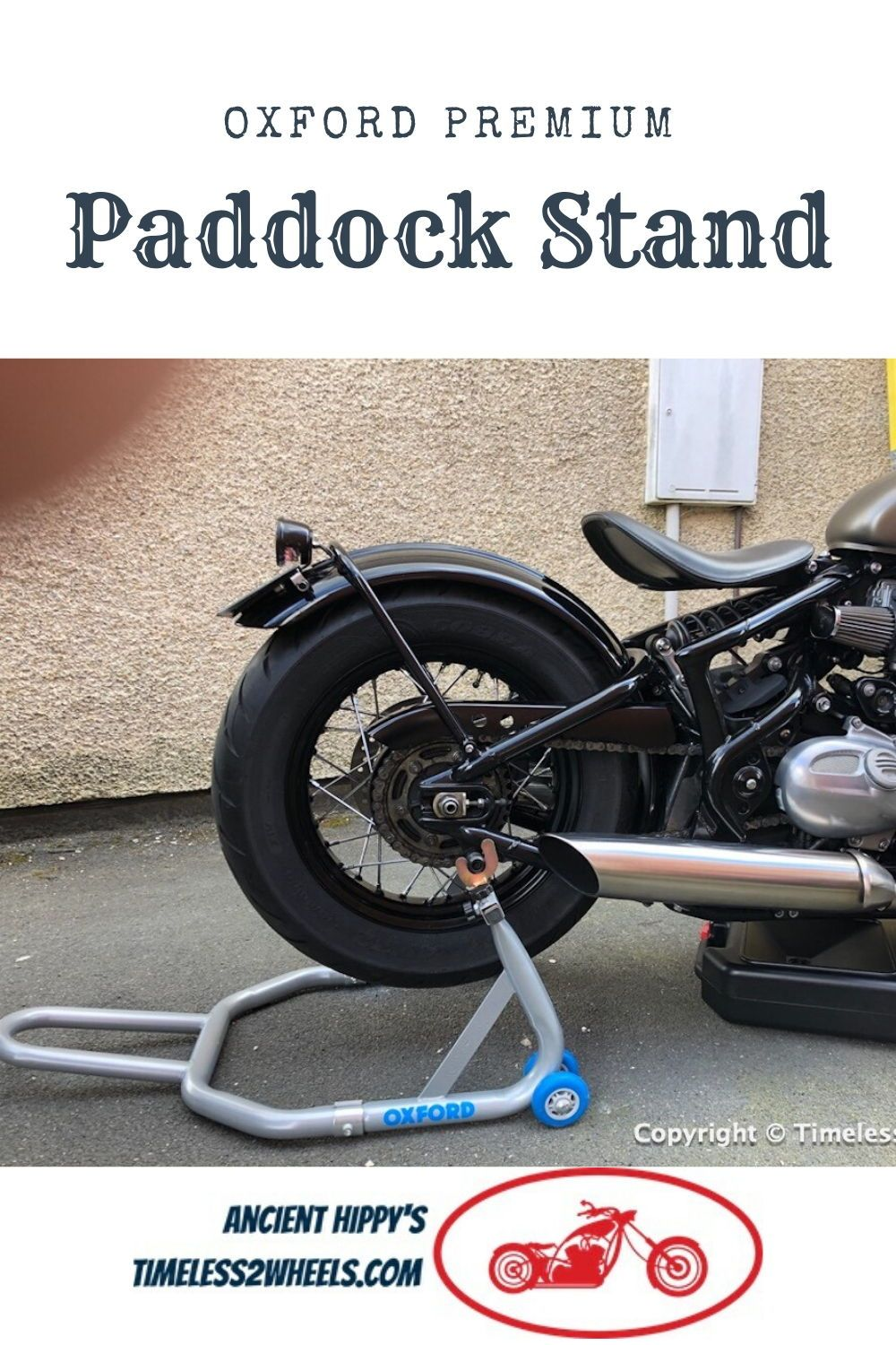 Oxford Paddock Stand Review Retro Motorcycle Oxford Triumph Bobber