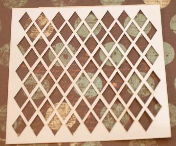 4x4 - Big diamonds stencil