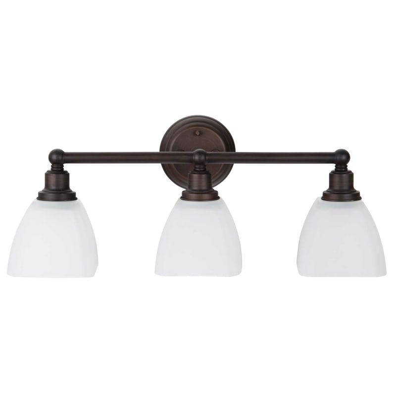 "Photo of Craftmade 26603-BZ-WG Bronze Bradley 3 light bathroom vanity light – 24 ""wide"