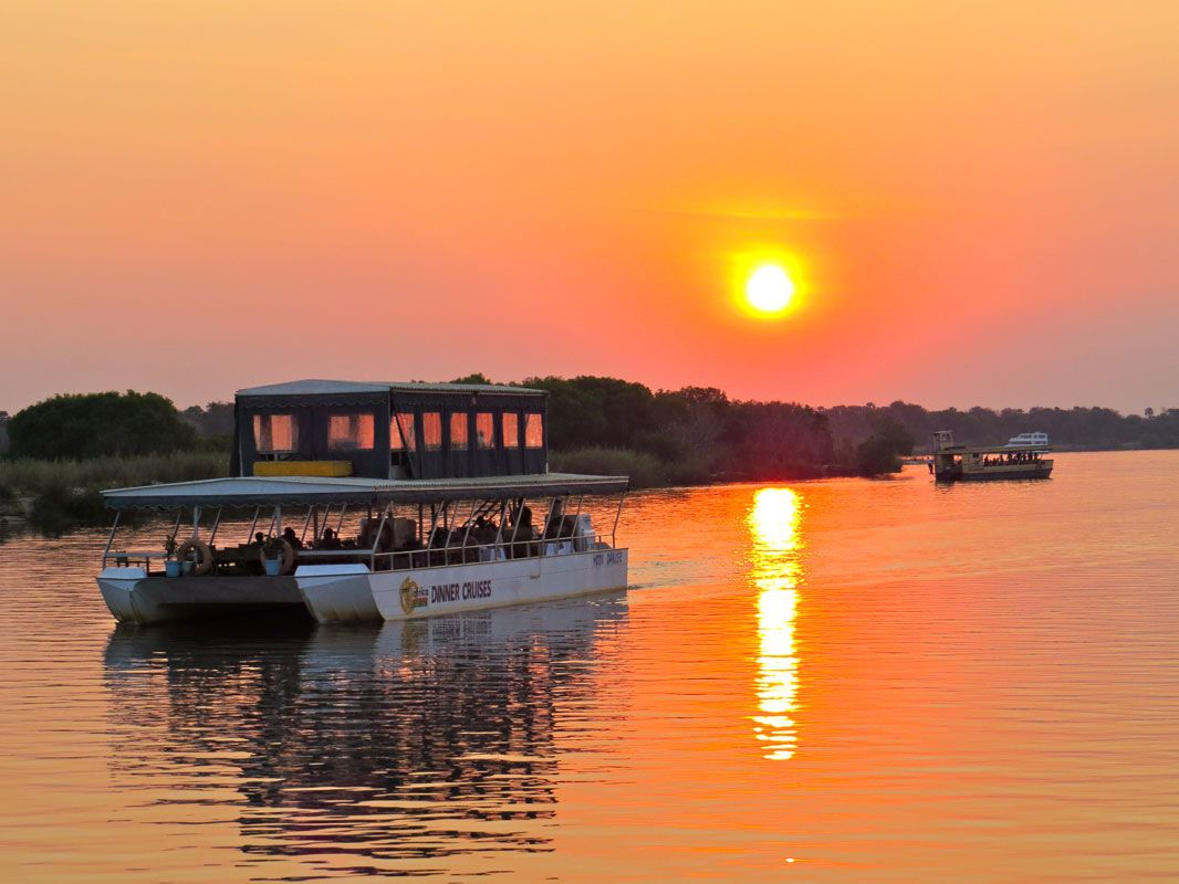 Image result for sundowner cruise on the zambezi river