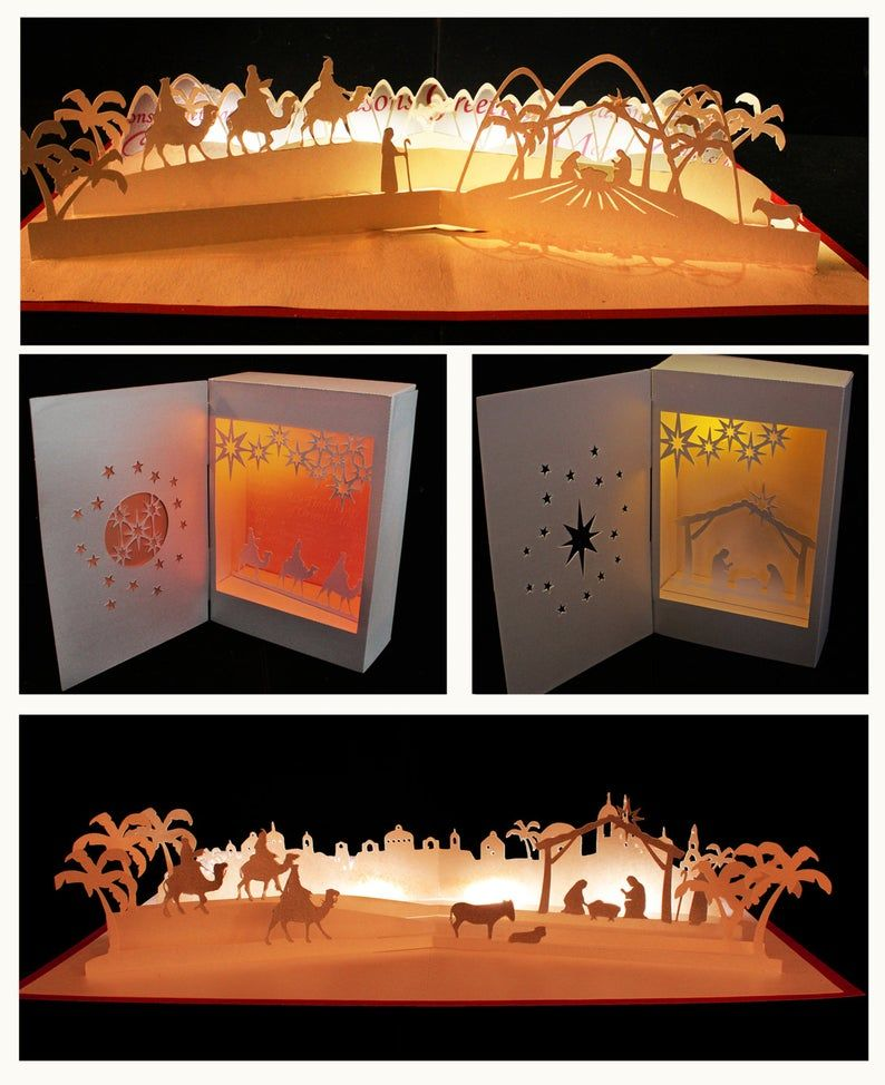Nativity Collection Set Of 4 Templates Etsy Christmas Nativity Scene Pop Up Christmas Cards Christmas Window Decorations