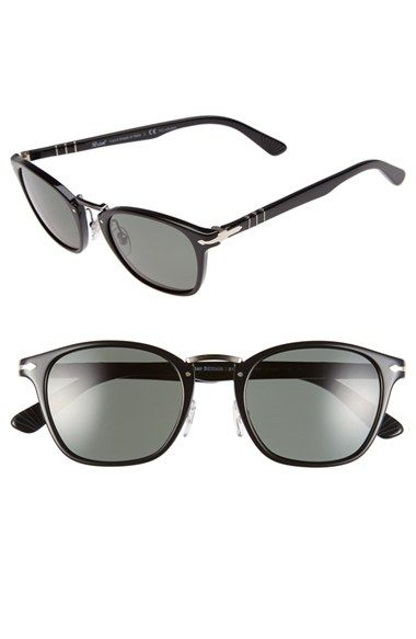 dfb2fa18f7 Free shipping and returns on Persol 51mm Polarized Retro Sunglasses at  Nordstrom.com. Signature arrow inlays detail the temples of retro-inspired  sunglasses ...