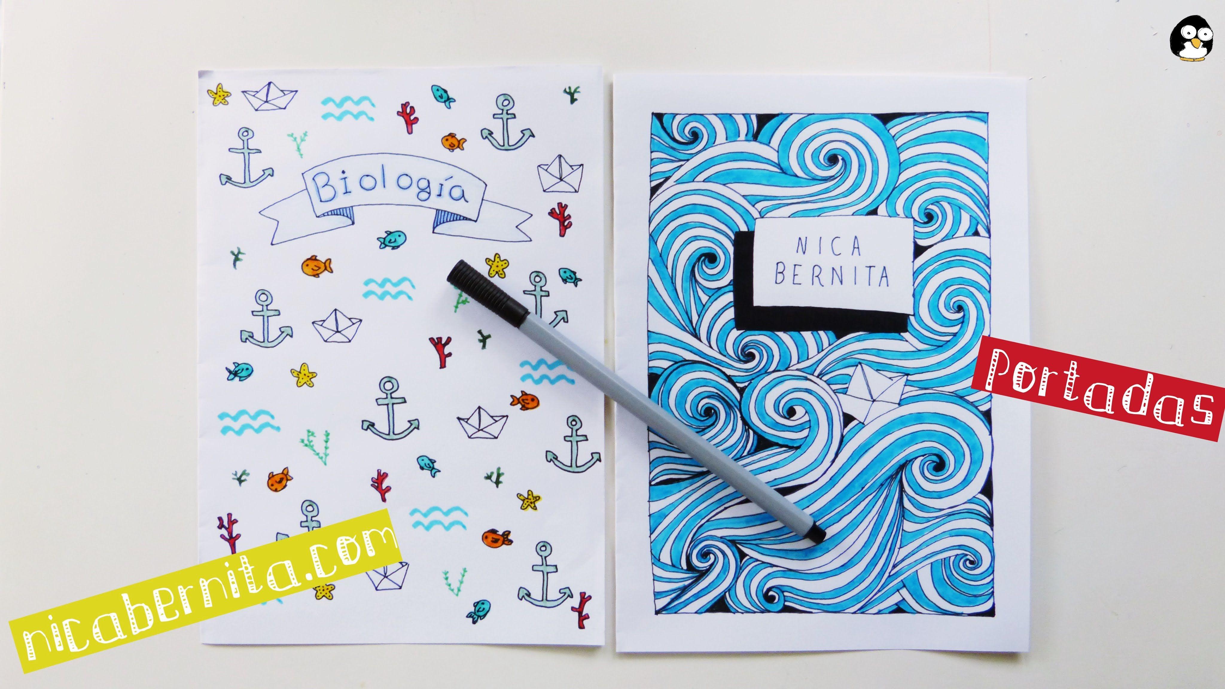 Como Hacer La Libreta De Dibujo De Marinetteprodigiosa: Cómo Hacer Portadas Fáciles Para Decorar Cuadernos