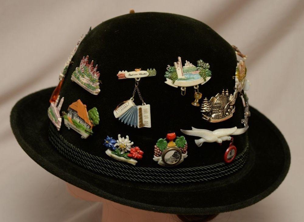 21 German Souvenir Hat Pins Mens Green Tyrolean Dusseldorf Vintage Germany Lot Hats For Men Souvenir Hat Pins