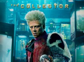 Marvel's Guardians of the Galaxy poster featuring The Collector (Benicio Del Toro)