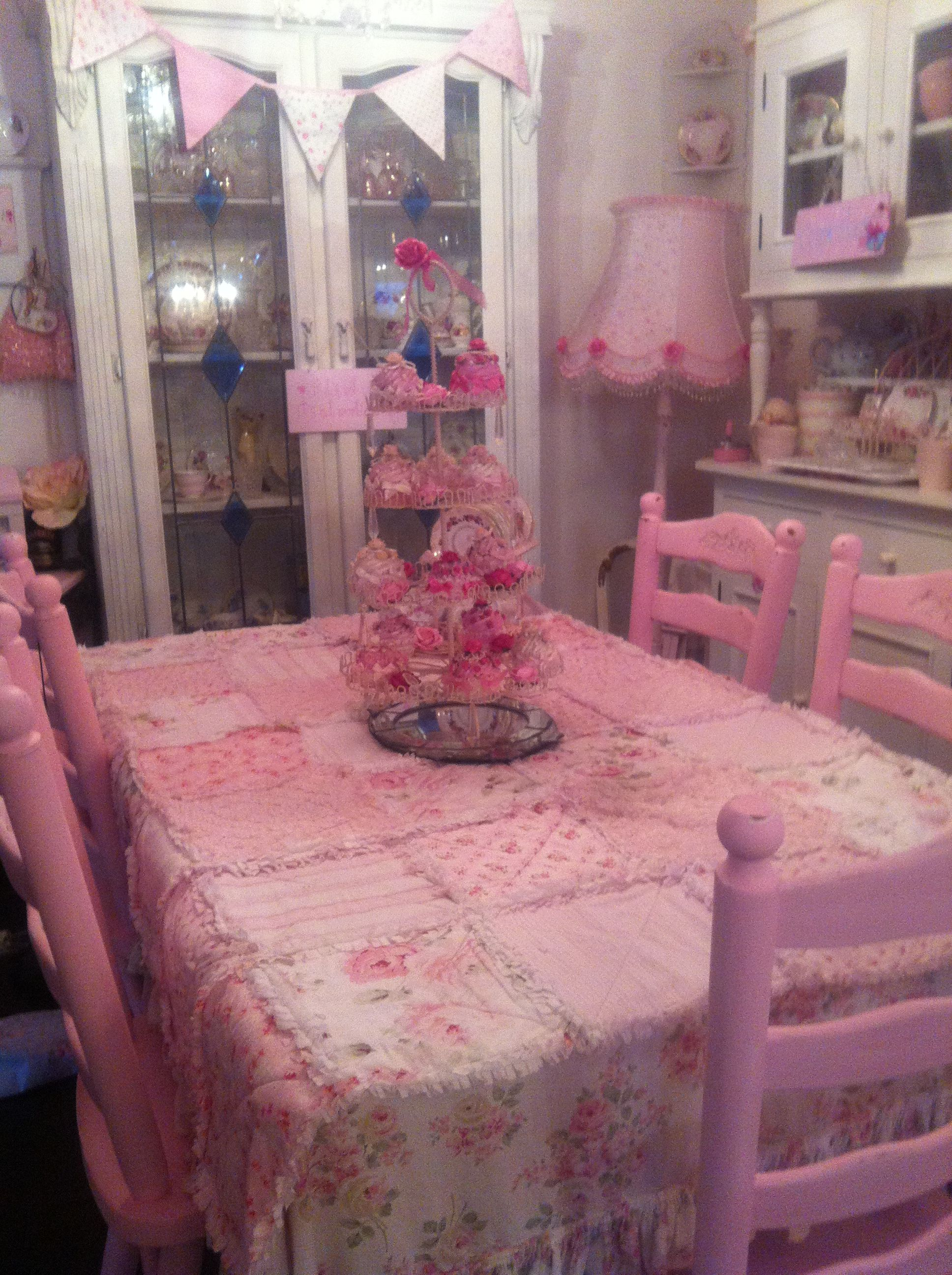Kim Writes My Pink Dining Room I