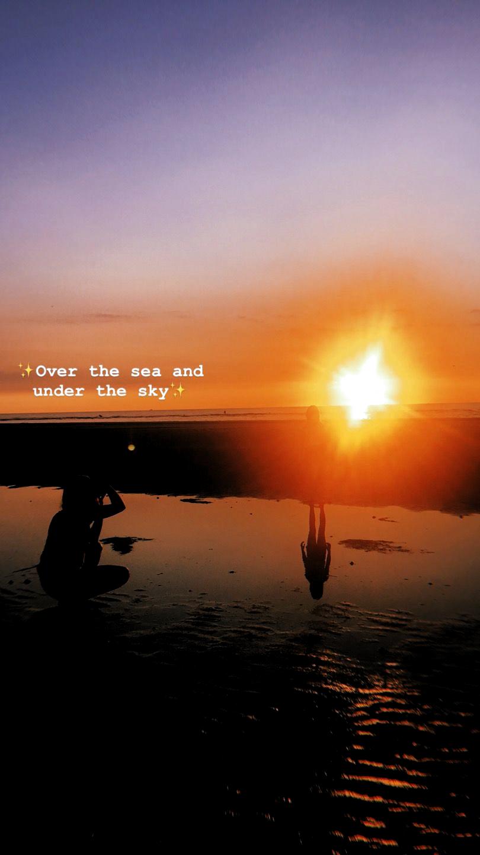 Pin Oleh Mohra Di Quotes Caption Untuk Instagram Kutipan Langit Kutipan Pantai