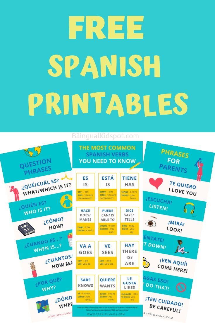 Spanish For Kids - Home Starter Kit with Printables to Teach Kids Spanish