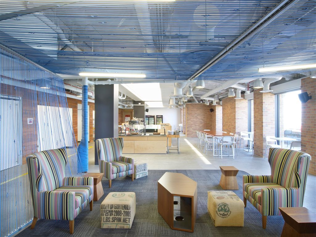 Google: LEED Gold. Build-out of a café and office space over ...