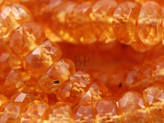 Natural AAA Quality Sapphire Gemstone Fire Orange by Beadspoint, $14.99
