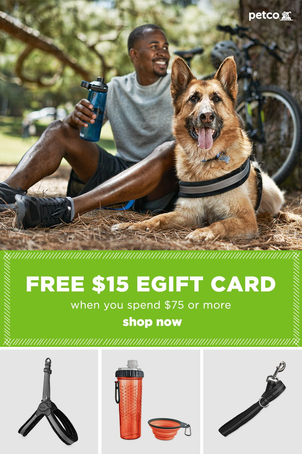 Get A 15 Free Egift Card When You Spend 75 Or More Today Shop Petco Today And Save Big Petco Discount Pet Supplies Reptiles Pet