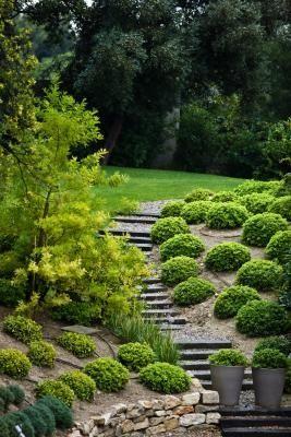 pente am nag e d co maison pinterest jardinage paysagiste et jardins. Black Bedroom Furniture Sets. Home Design Ideas