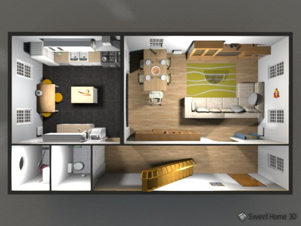 sweet home 3d gallery planos casa pinterest 3d and galleries. Black Bedroom Furniture Sets. Home Design Ideas