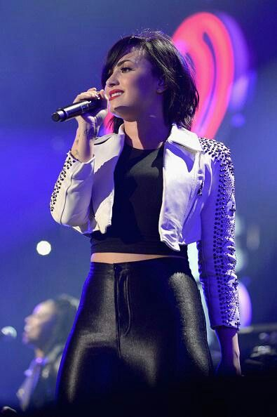 Demi Lovato attends 93.3 FLZ's Jingle Ball 2014 in Tampa, Florida. - December 22nd.