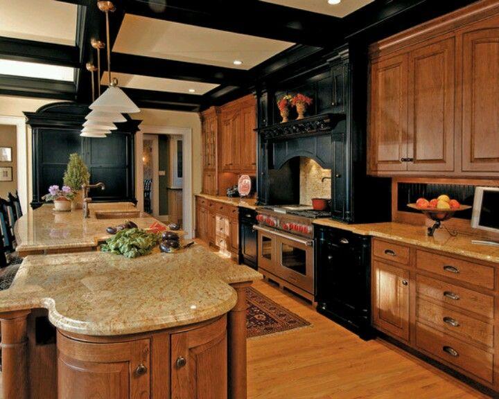 Black and walnut kitchen cabinets | Kitchen inspiration ...