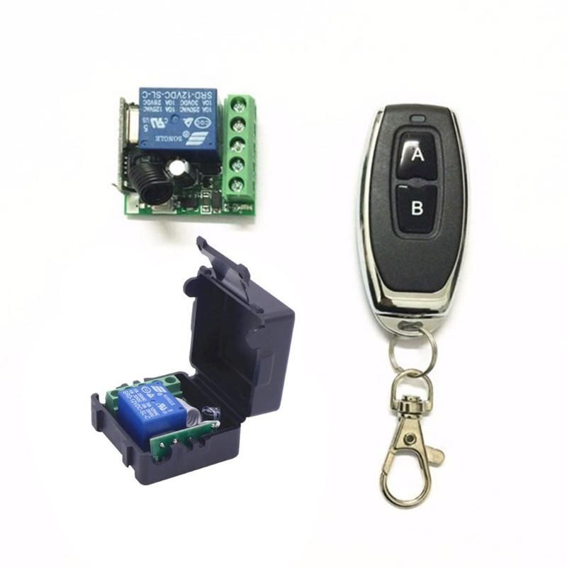 Dc 12v 1ch Relay Receiver Module Rf Transmitter 433mhz Wireless Remote Control Us 3 53 Remote Control Transmitter Remote Controls