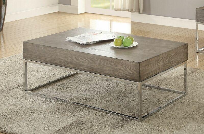 Acme 84580 Cecil Ii Gray Oak Finish Wood Coffee Table Coffee Table Wood Coffee Table Wood Finish