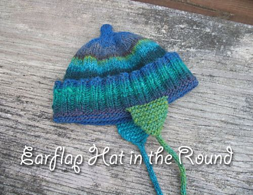 Ravelry: Toddler Earflap Hat in the Round pattern by Kelly ...