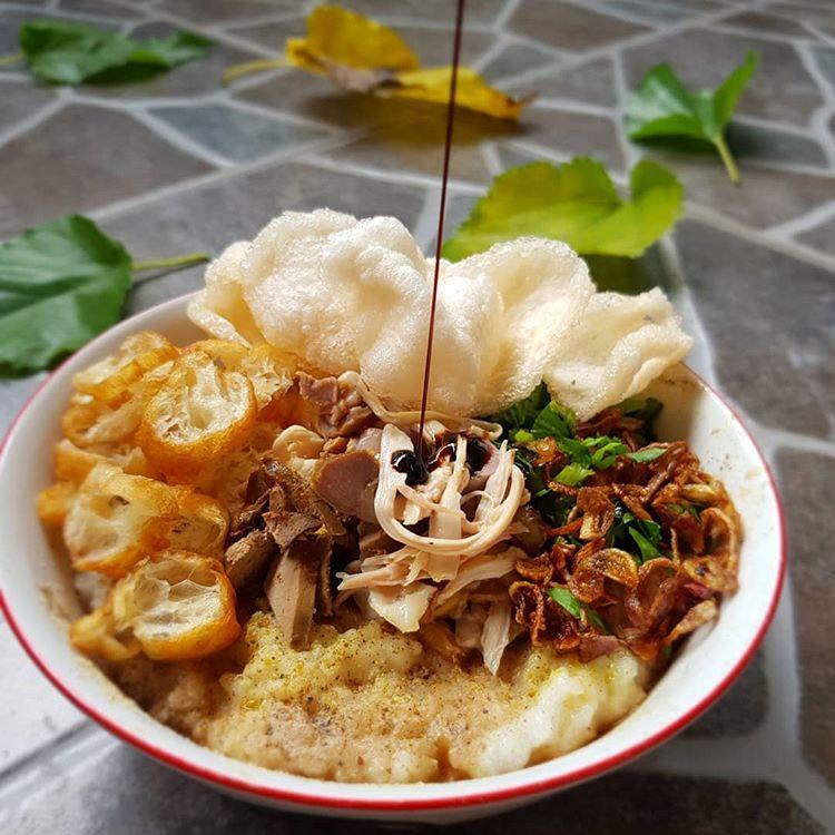Resep Bubur Ayam Kampung Kuah Kuning Khas Jakarta Yang Dimasak Dengan Rice Cooker Resep Resep Resep Masakan Resep Masakan Indonesia