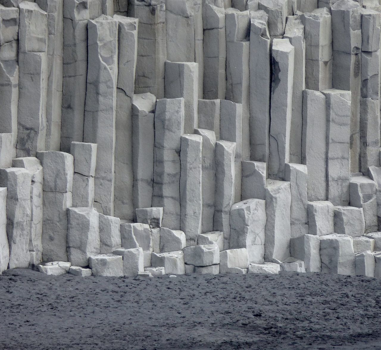 Basalt Columns Iceland : The basalt rock columns at vík in mýrdal south iceland