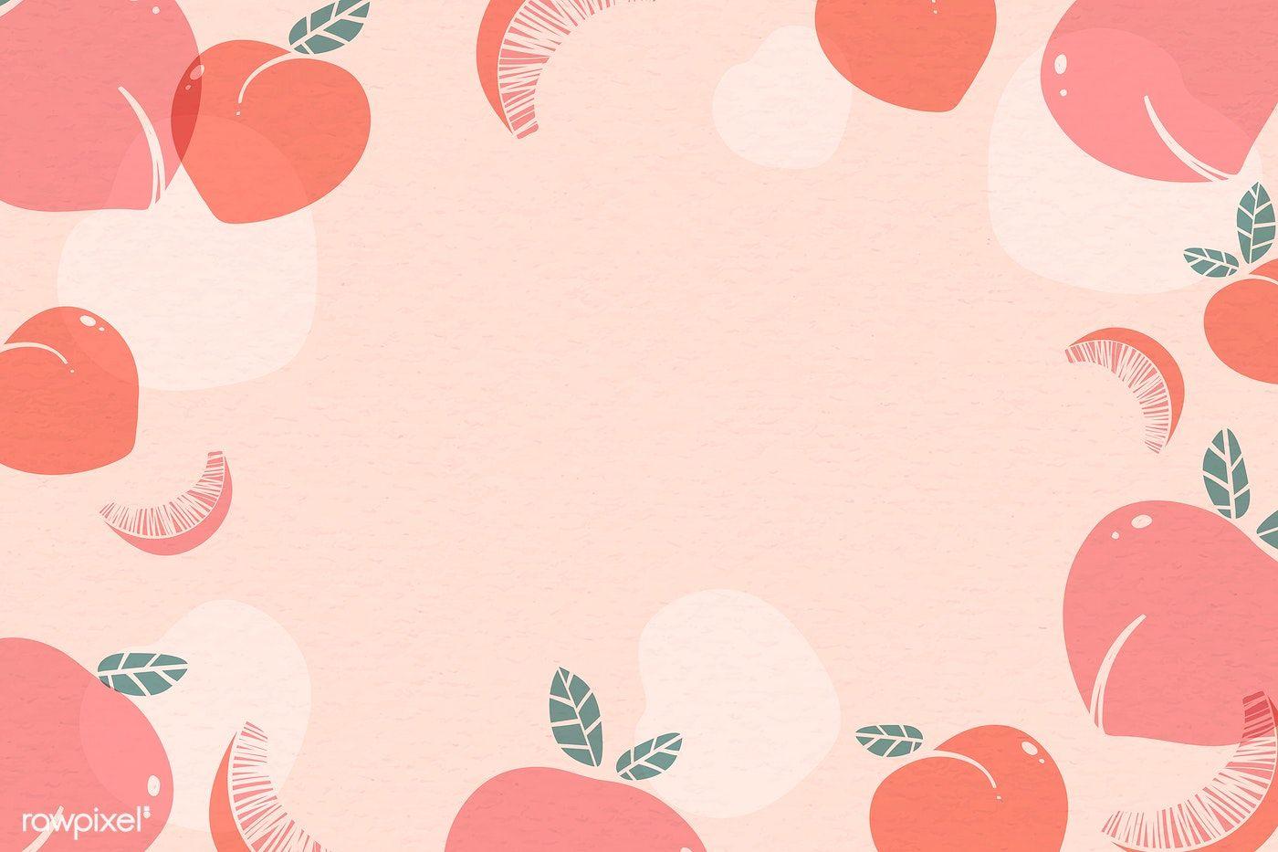 Peach Aesthetic Wallpaper Desktop