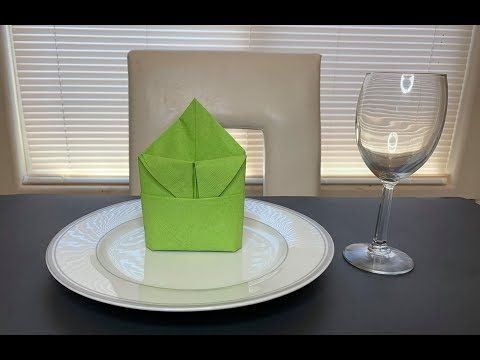 DIY: Paper Napkin Folding Idea - YouTube- DIY: Paper Napkin Folding Idea – You...,  #DIY #fol... #diynapkinfolding