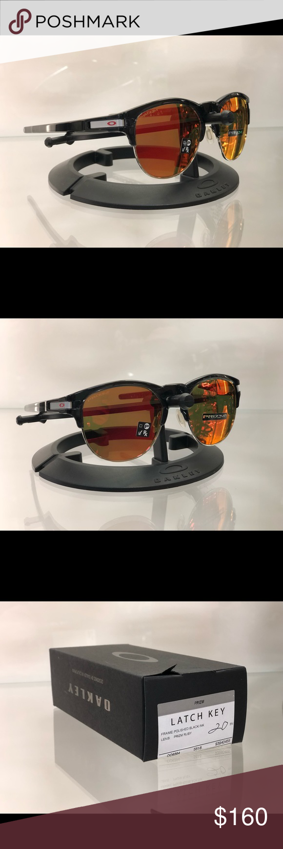 1bce47dcc8ce0 ... best price oakley latch key new in box black ink and prizm ruby. oakley  accessories