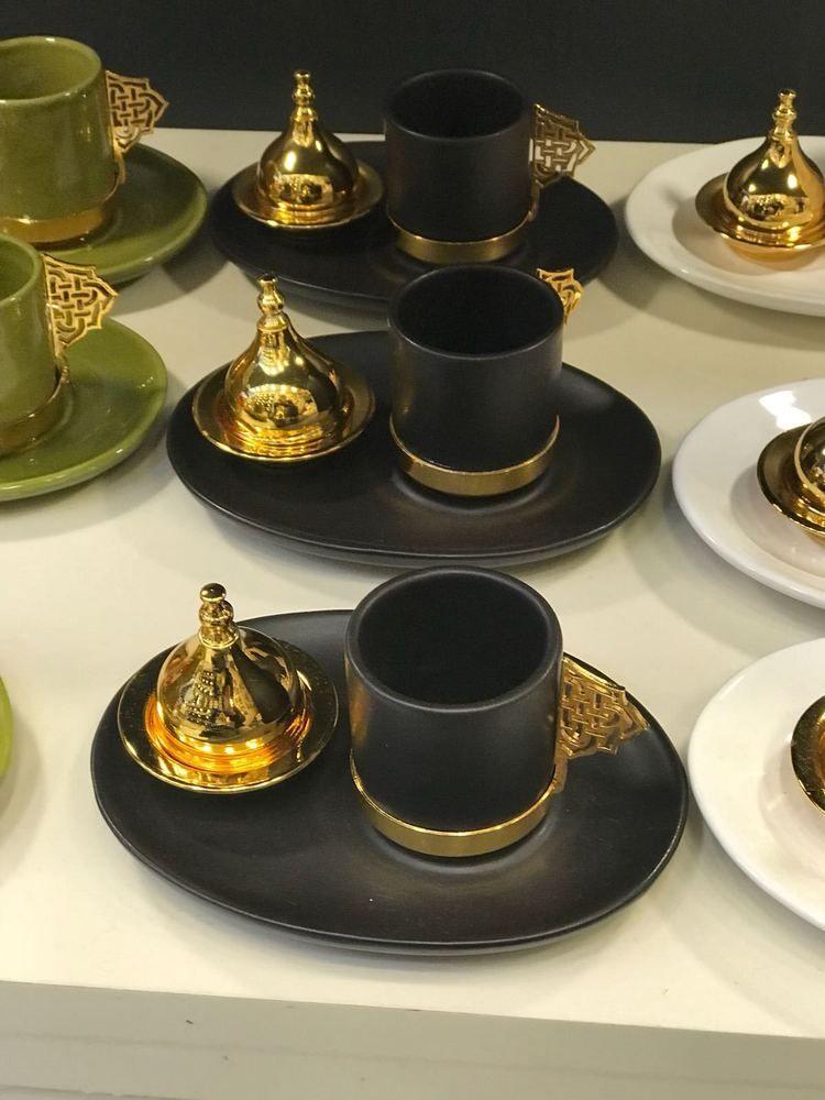 Turkish Tea Glasses 12pc Set Luxury Design Cups /& Saucers Arabian Tea House LAV