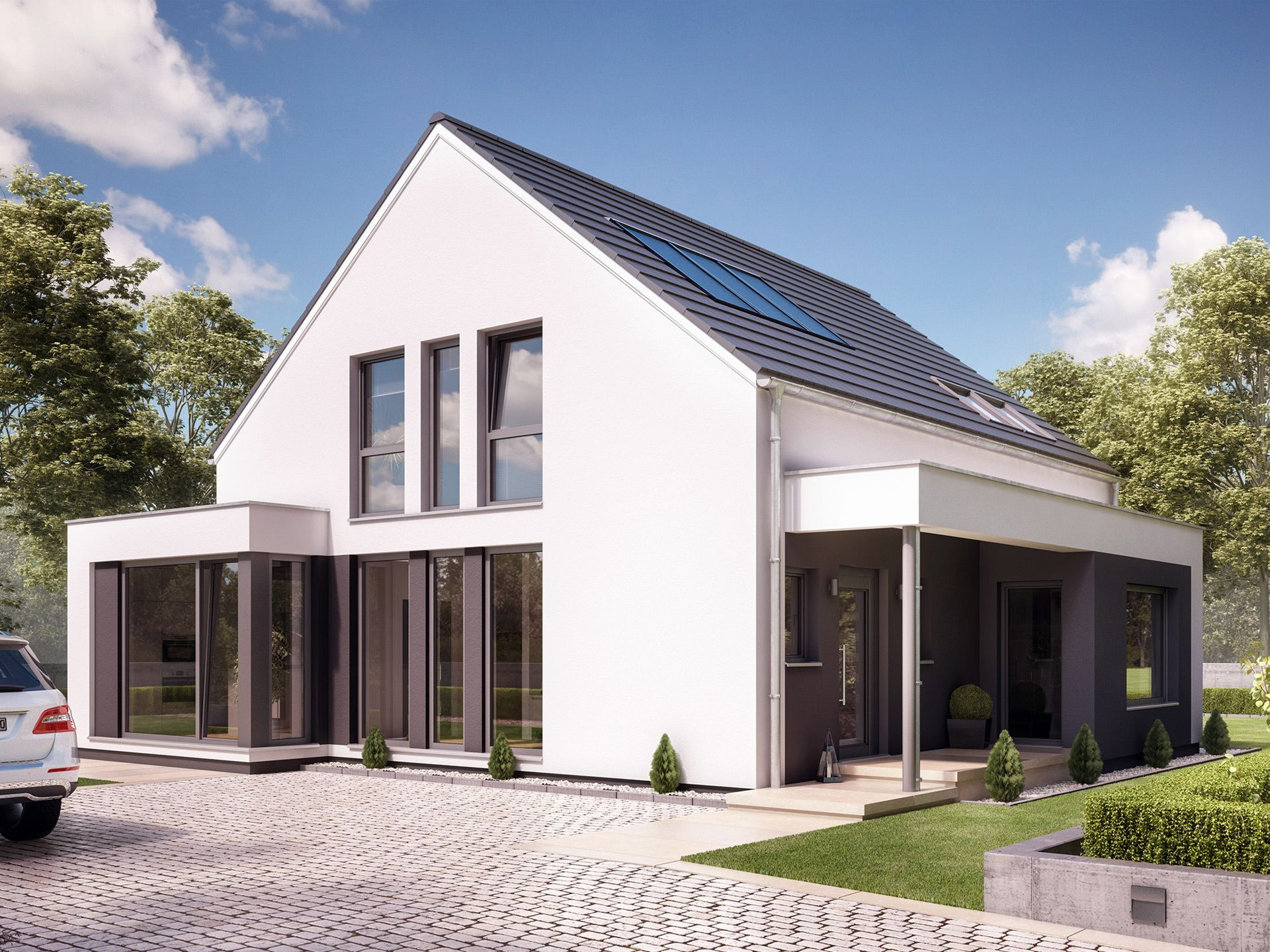 Haus bauen modern satteldach  Fantastic 163 V2 • Einfamilienhaus von Bien-Zenker • Modernes ...